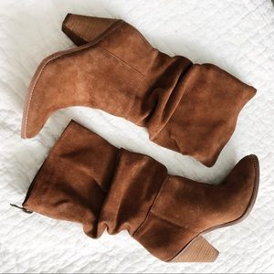 Shoes - Suede Mid-Calf Boots